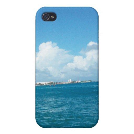 Aguas azules iPhone 4 cárcasa