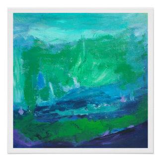 Aguas azules - impresión brillante 20 x 20 perfect poster