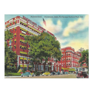 Aguas termales Arkansas del vintage Postal