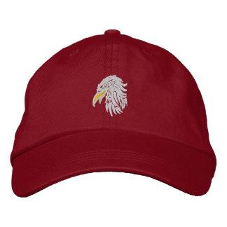 águila calva orgullosa gorros bordados