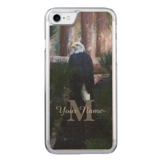 Águila calva y monograma americanos funda para iPhone 7 de carved