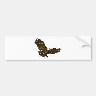 Águila creativa pegatina para coche