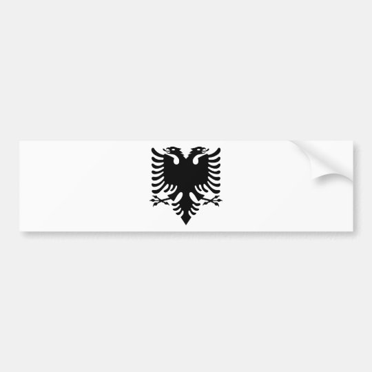 Águila dirigida doble albanesa pegatina para coche