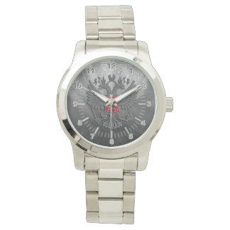 Águila doble rusa reloj de pulsera