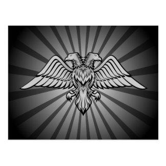 Águila gris con dos cabezas postal
