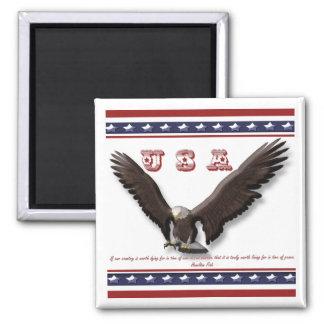 Águila patriótica famosa de los E.E.U.U. de los re Iman De Frigorífico