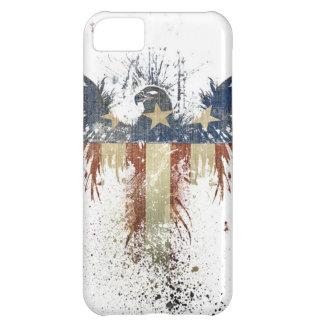 Águila patriótica, US/USA, bandera TRISTE Carcasa Para iPhone 5C