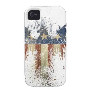 Águila patriótica US USA bandera TRISTE Vibe iPhone 4 Fundas