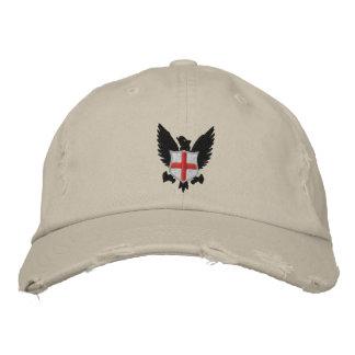 águila y escudo gorra bordada