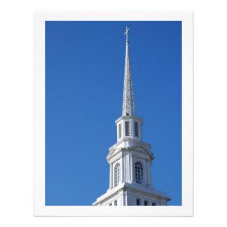 Aguja blanca de la iglesia comunicados personales