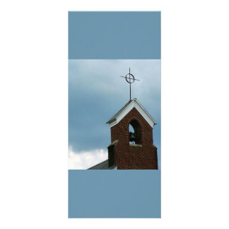 Aguja de la iglesia cristiana tarjeta publicitaria
