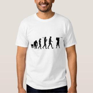 Agujero del camisetas de los jugadores de golf en