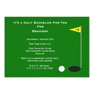 Agujero del golf de la despedida de soltero del invitación 12,7 x 17,8 cm