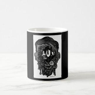 agujero del whith del zombi en cara taza básica blanca
