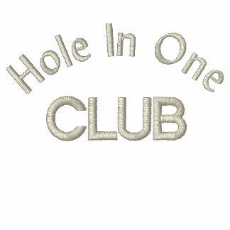 Agujero en un golf del club que se jacta polo bordado