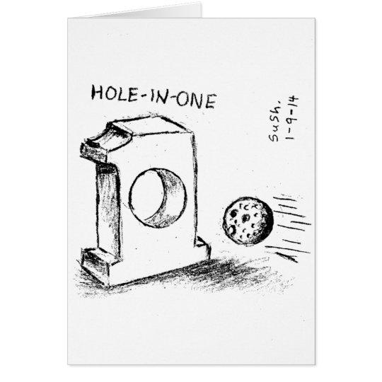 Agujero-en-Uno -- Tarjeta de nota