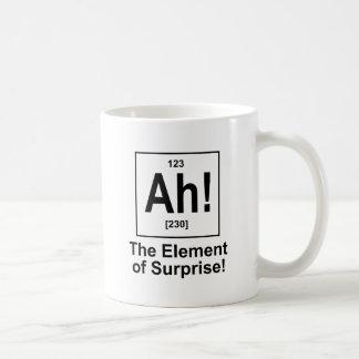 ¡Ah! El elemento de la sorpresa Taza De Café