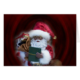 Ah, tarjeta de Navidad de Santa