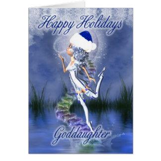 Ahijada - buenas fiestas - tarjeta de Navidad - fr