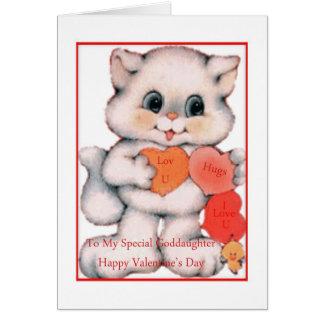 Ahijada de la tarjeta del el día de San Valentín