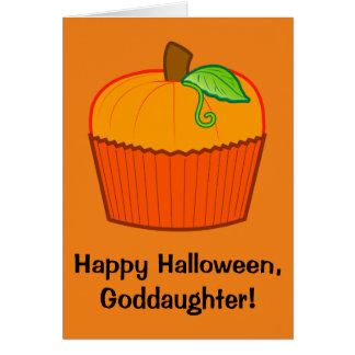 Ahijada del feliz Halloween Tarjeta De Felicitación