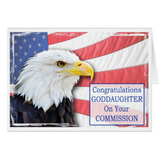 Ahijada, encargando con un águila calva tarjeta de felicitación