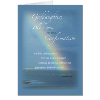Ahijada, enhorabuena del arco iris de la tarjeta de felicitación
