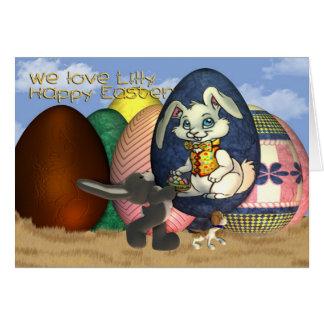 Ahijada Lilly Pascua feliz Tarjeta De Felicitación