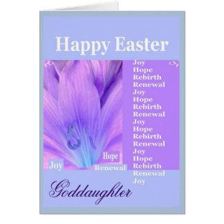 AHIJADA - Pascua feliz con el lirio Tarjeta De Felicitación