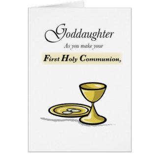 Ahijada, primera enhorabuena de la comunión tarjeta