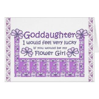 AHIJADA - sea mi florista - tréboles púrpuras Tarjeta De Felicitación