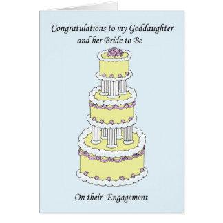 Ahijada y novia a estar en compromiso tarjeta de felicitación