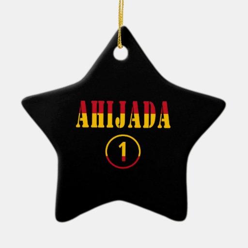 Ahijadas españolas: Uno de Ahijada Numero Ornamento Para Arbol De Navidad