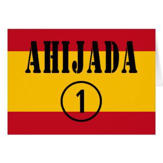 Ahijadas españolas: Uno de Ahijada Numero Tarjeton