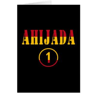 Ahijadas españolas: Uno de Ahijada Numero Tarjeta Pequeña