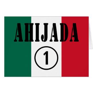 Ahijadas mexicanas: Uno de Ahijada Numero Tarjeta De Felicitación