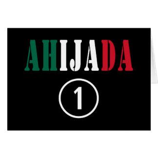 Ahijadas mexicanas: Uno de Ahijada Numero Tarjeta Pequeña