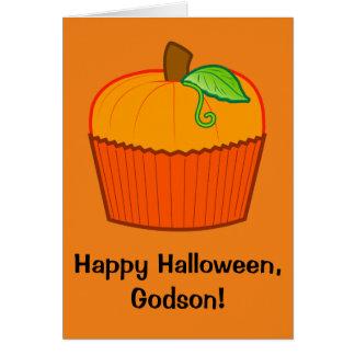 Ahijado del feliz Halloween Tarjeta De Felicitación