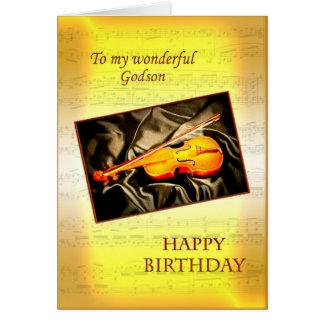 Ahijado, una tarjeta de cumpleaños musical con un