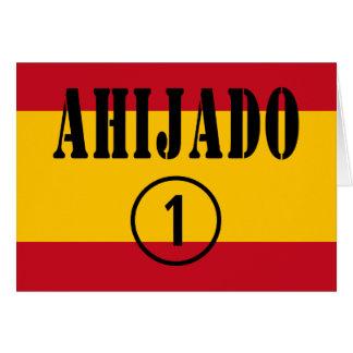 Ahijados españoles: Uno de Ahijado Numero Tarjeta De Felicitación