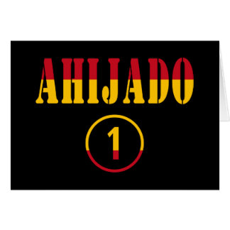 Ahijados españoles: Uno de Ahijado Numero Tarjeta Pequeña