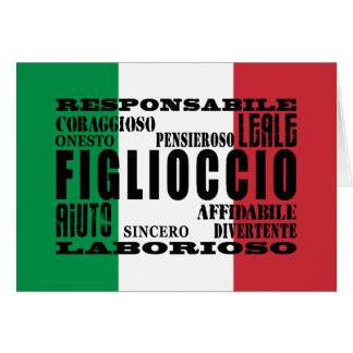 Ahijados italianos: Calidades Felicitacion