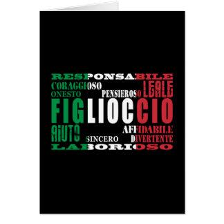 Ahijados italianos: Calidades Tarjetón