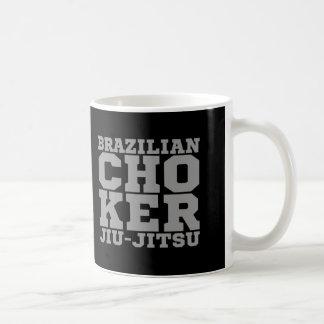 AHOGADOR - brasilen@o Jiu-Jitsu v07, plata del Taza De Café