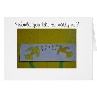 Ahora cáseme… tarjeta de felicitación