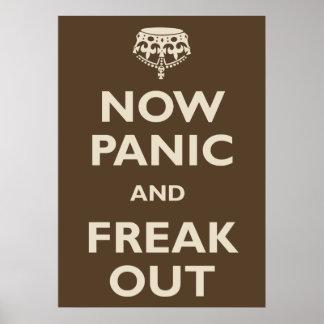 Ahora el pánico y Freak hacia fuera Póster
