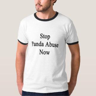 Ahora pare el abuso de la panda camiseta