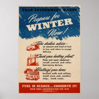 Ahora prepárese para el poster del invierno