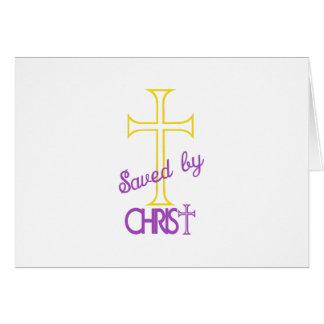 Ahorrado por Cristo Tarjeta De Felicitación