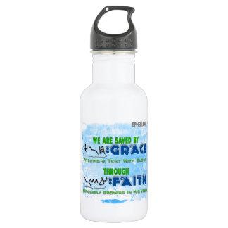 Ahorrado por la tolerancia con la fe botella de agua